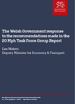 Welsh Government Response to the Recommendations Made in the 20 Mph Task Force Group Report